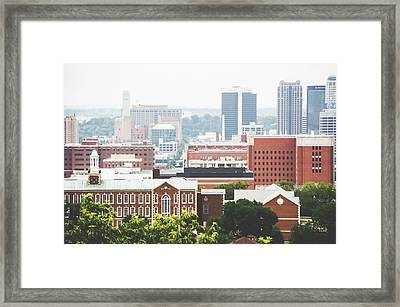 Framed Print featuring the photograph Downtown Birmingham - The Magic City by Shelby Young