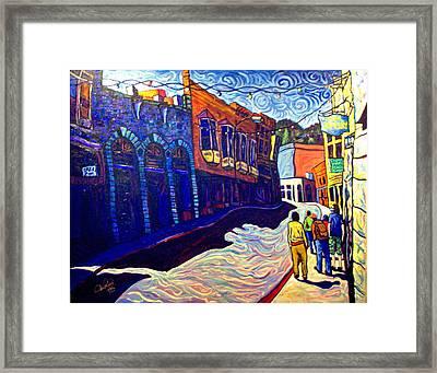 Downtown Bisbee Framed Print by Steve Lawton