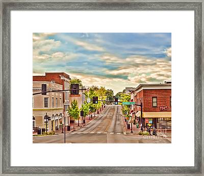 Downtown Blacksburg Framed Print