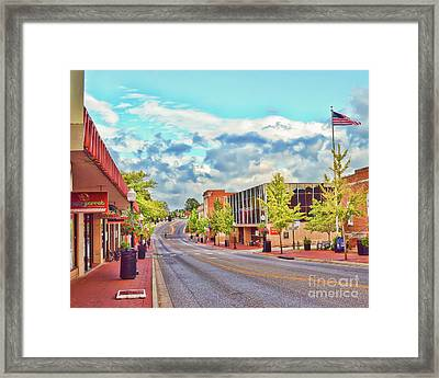 Downtown Blacksburg - Main Street Framed Print