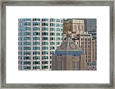 Framed Print featuring the photograph Downtown Blend by Kim Wilson
