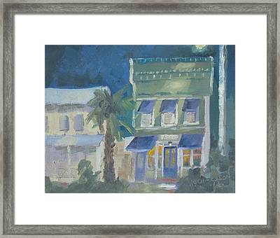 Downtown Books Three Framed Print by Susan Richardson
