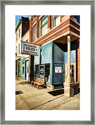 Downtown Brookville Indiana Framed Print by Mel Steinhauer