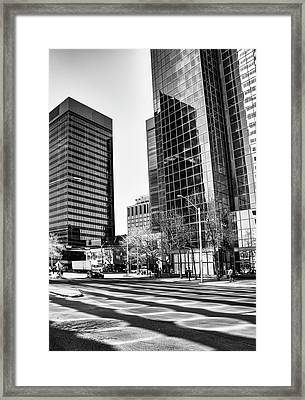 Framed Print featuring the photograph Downtown Bubble Reflections by Darcy Michaelchuk