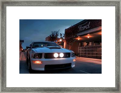 Framed Print featuring the photograph Downtown California Special - Mustang - American Muscle Car by Jason Politte