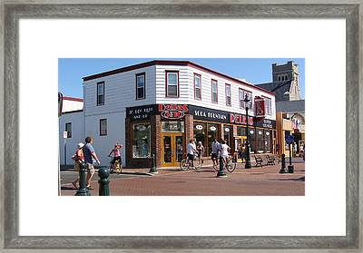 Framed Print featuring the painting Downtown Cape May New Jersey by Rod Jellison