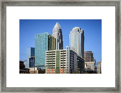 Downtown Charlotte North Carolina Buildings Framed Print