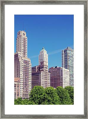 Framed Print featuring the photograph Downtown Chicago by Melanie Alexandra Price