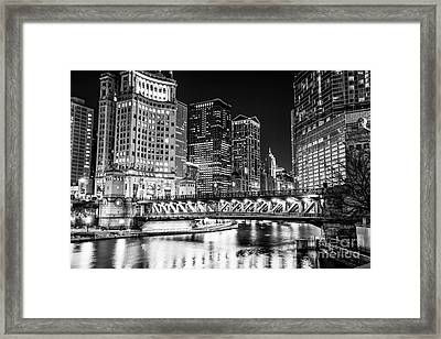 Downtown Chicago Michigan Avenue Bridge Picture Framed Print by Paul Velgos