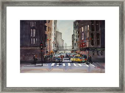 Downtown Chicago Framed Print by Ryan Radke