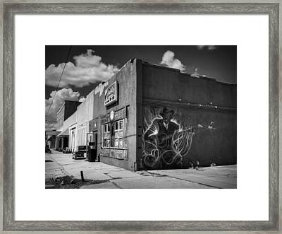 Downtown Clarksdale 002 Framed Print by Lance Vaughn