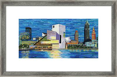 Downtown Cleveland Skyline  Framed Print