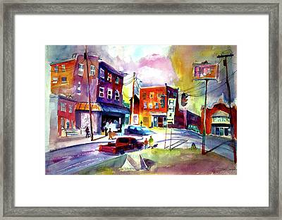 Downtown Cobleskill New York Framed Print by Joseph Giuffrida