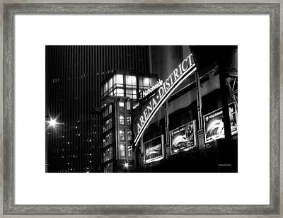 Downtown Columbus Bw1734 Framed Print by Brian Gryphon