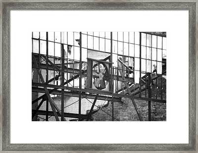 Downtown Columbus Bw2823 Framed Print by Brian Gryphon