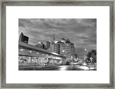 Downtown Columbus Bw5145 Framed Print by Brian Gryphon