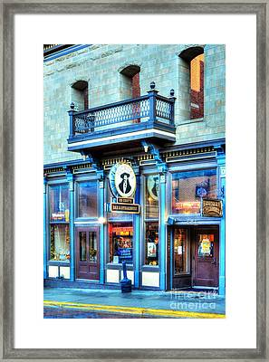 Downtown Deadwood 5 Framed Print by Mel Steinhauer