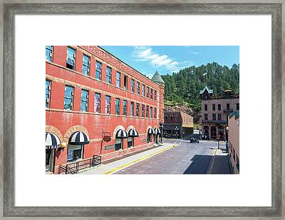 Downtown Deadwood, South Dakota Framed Print by Jess Kraft