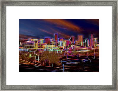 Downtown Denver Framed Print by Kelley King