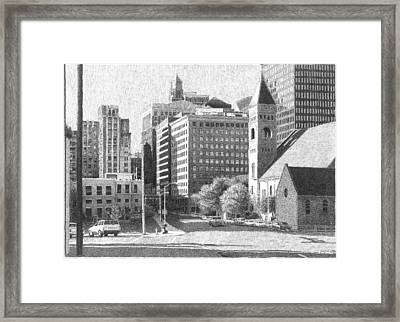 Downtown Des Moines Framed Print by Joel Lueck