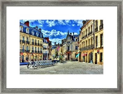 Downtown Dijon Framed Print
