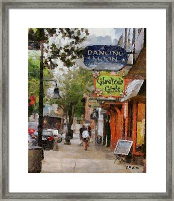 Downtown Framed Print by Elizabeth Coats