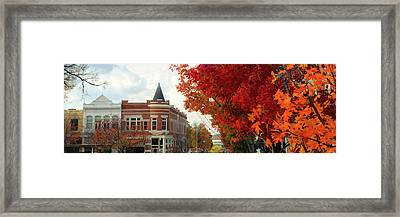Downtown Fayetteville Arkansas Autumn Skyline Panorama Framed Print
