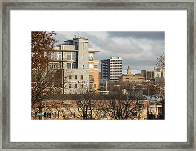 Downtown Fayetteville Arkansas Skyline - Dickson Street Framed Print by Gregory Ballos