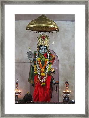 Downtown Ganeshpuri Durga Temple Framed Print by Jennifer Mazzucco