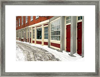 Downtown Gardiner Winter Framed Print by Olivier Le Queinec
