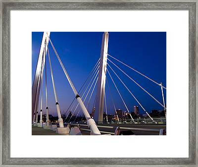 Downtown Gateway Framed Print