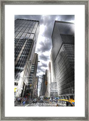 Downtown Hdr Framed Print by Robert Ponzoni