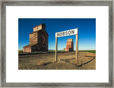 Downtown Hobson, Montana Framed Print by Todd Klassy