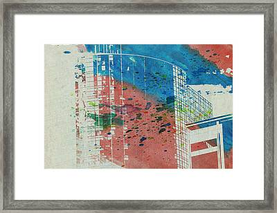 Downtown Houston Watercolor 1 Framed Print by Bartz Johnson