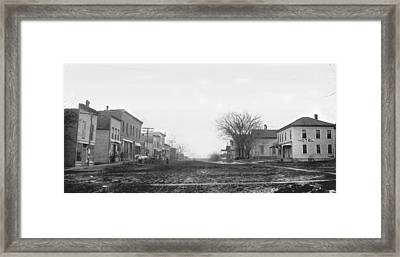 Downtown Hudson Iowa Framed Print by Greg Joens