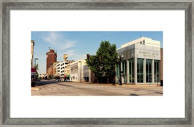 Downtown Huntington West Virginia Framed Print by L O C