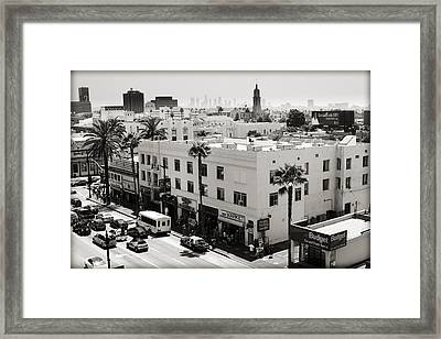 Downtown In The Distance Framed Print by Ricky Barnard
