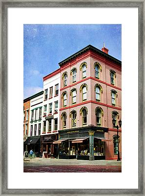Downtown Ithaca Architecture  Framed Print by Christina Rollo