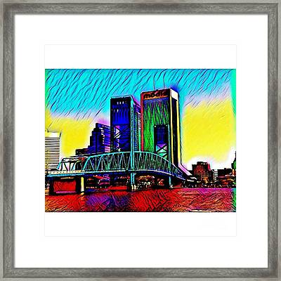Downtown Jacksonville, Florida Framed Print by Clint Day