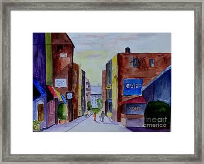 Downtown Framed Print by Joe Hagarty