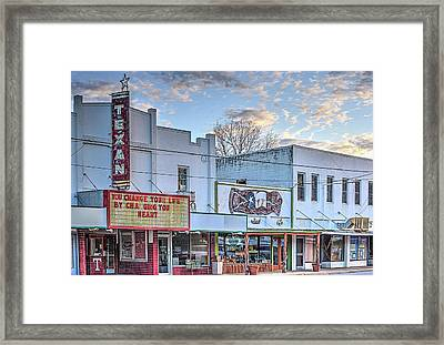 Downtown Junction Texas Framed Print by JC Findley