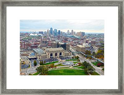 Downtown Kansas City From Liberty Memorial Tower Framed Print