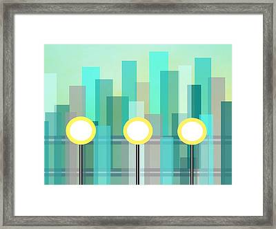 Downtown Framed Print by Kathleen Sartoris