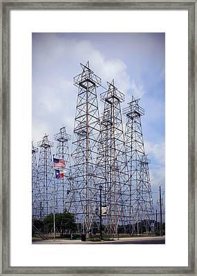 Downtown Kilgore Texas Framed Print by Gayle Johnson
