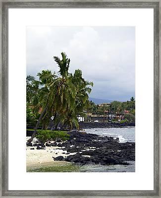 Downtown Kona Framed Print by Athala Carole Bruckner