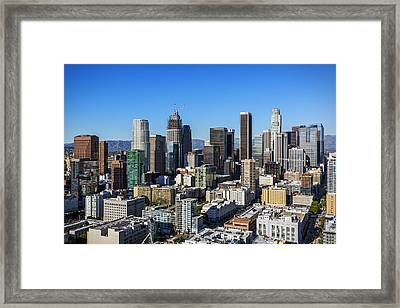 Downtown Los Angeles 2016 Framed Print by Kelley King