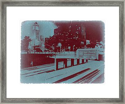 Downtown La Framed Print by Naxart Studio