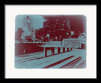 Down Town Los Angeles Framed Prints