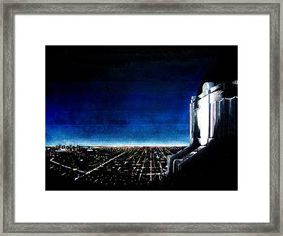 Downtown La Nights Framed Print