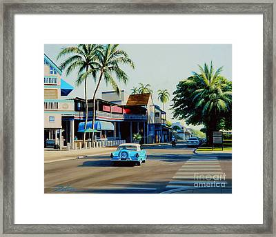 Downtown Lahaina Maui Framed Print by Frank Dalton